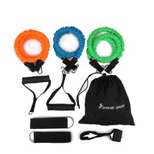 Buy 9pcs man resistance bands exercise set fitness tube yoga workout pilates wholesale free kylin sport for $20.41 in AliExpress store