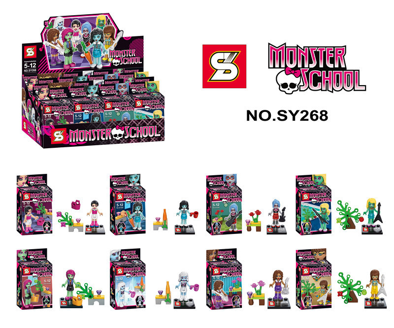 80pcs SY268 Monster School Girl Friends Minifigures Building Block bricks Sets Educational DIY baby Toys compatible with lego(China (Mainland))