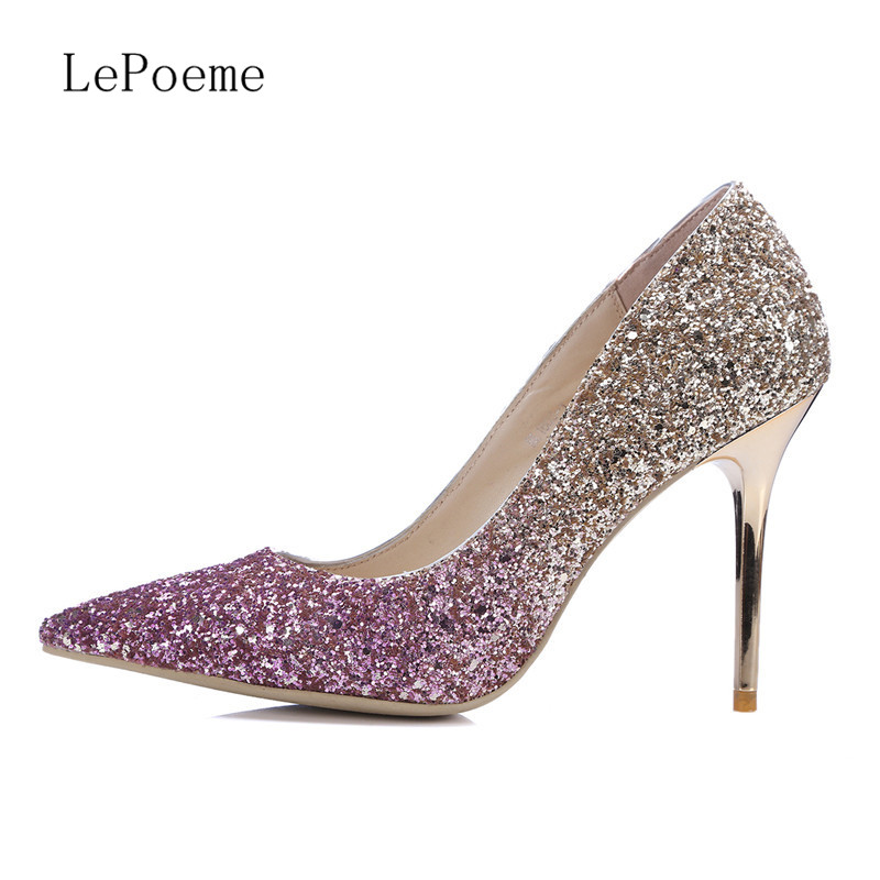 High Quality Silver Sequin Heels-Buy Cheap Silver Sequin Heels ...