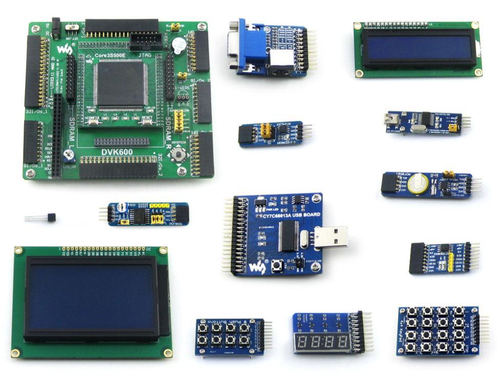 Open 3S500E Package B # XC3S500E Spartan 3E FPGA XILINX Board + LCD 1602 + LCD 12864 + 12 Module(China (Mainland))