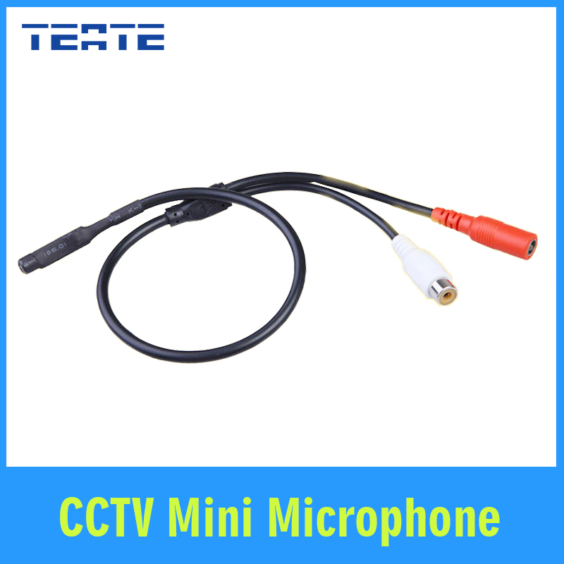 TEATE CCTV Mini Microphone for Audio pick up in Wide Range Camera Mic Audio Microphone Security DVR system TET-G01CAB(China (Mainland))