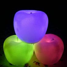 1pcs Apple Shape Color Changing LED Lamp Night Light Christmas New Year Party Decor(China (Mainland))