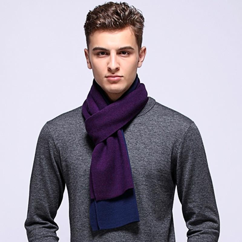 Marca bufanda de lana de cachemira hombre del diseñador hombres de invierno bufandas para hombre de