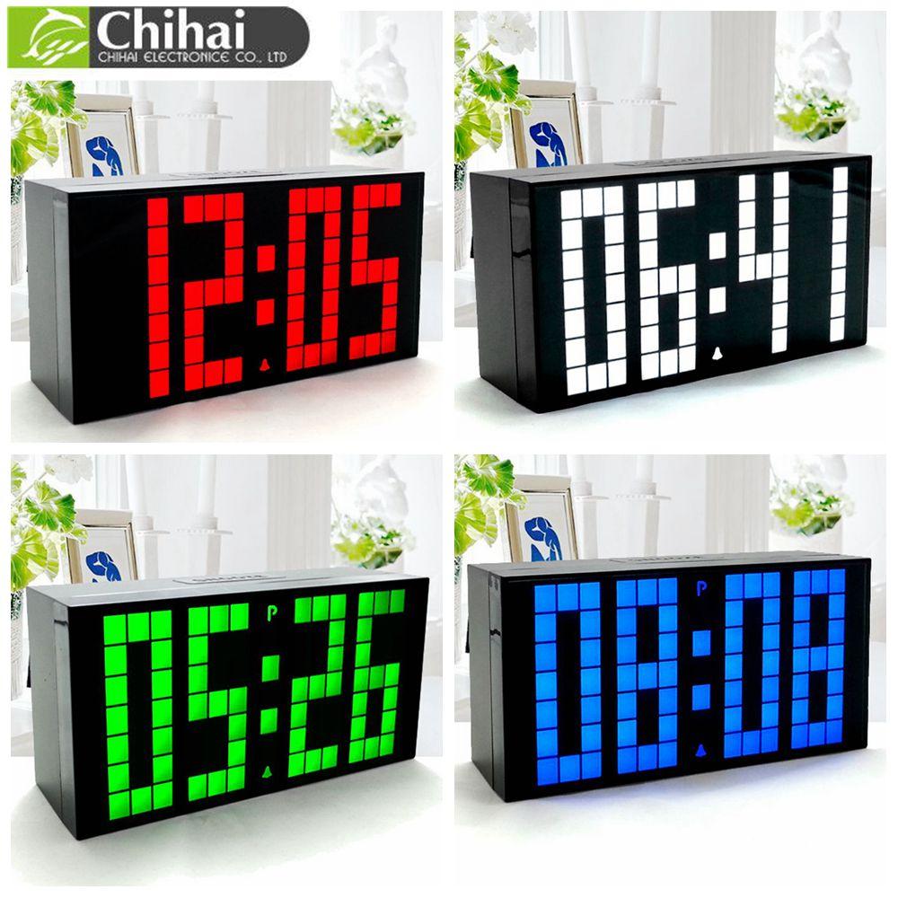 CH KOSDA Calendar Thermometer Alarm Clock Digital LED Display Wall Clock Countdown Timer Six Alarms Color Choose Snooze Date New(China (Mainland))