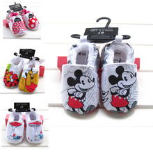 2016 New Princess Baby Shoes Unisex Infant Toddler Soft Sole Girl's Bebe Cotton First Walkers Shoes Lovely Bear Kids Prewalker(China (Mainland))