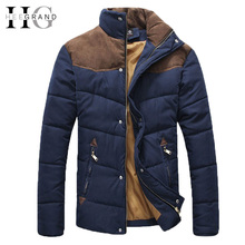 2015 New Arrival Fashion Men Winter Splicing Cotton-Padded Coat Jacket Winter Plus Size High Quality Parka MWM169