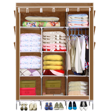 5 Color Homdox Portable Closet Storage Organizer Wardrobe  Canvas Wardrobe WIth Hanging Rail Storage Home Furniture(China (Mainland))