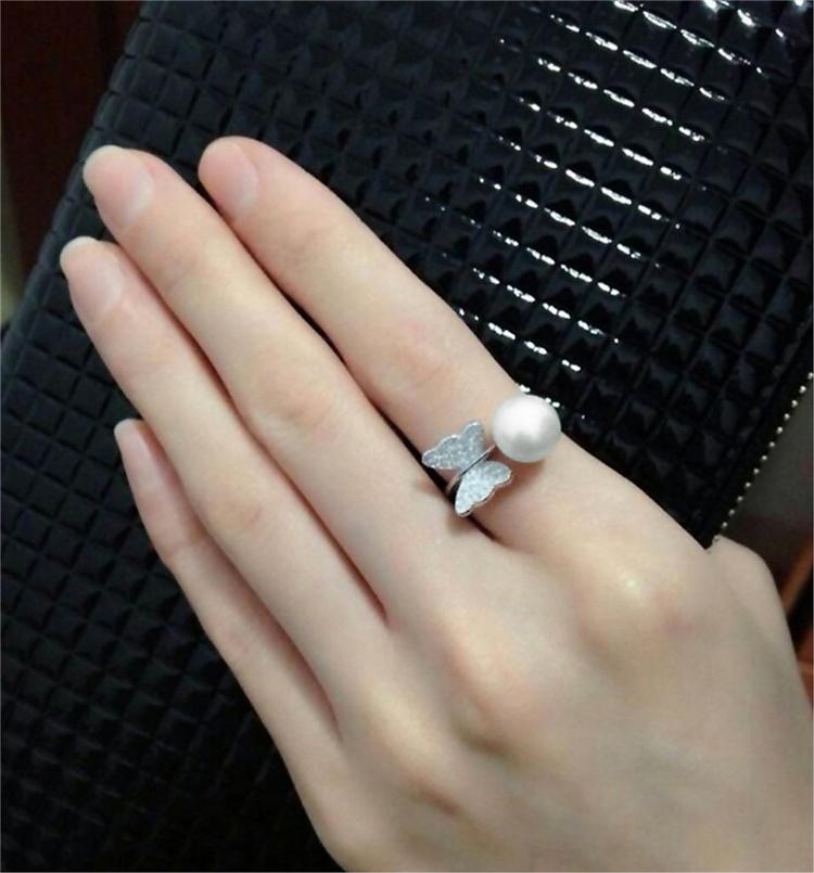 Wedding Ring Rash S925 Butterfly Wedding Rings The Tail Ring Index Finger Ring For Men