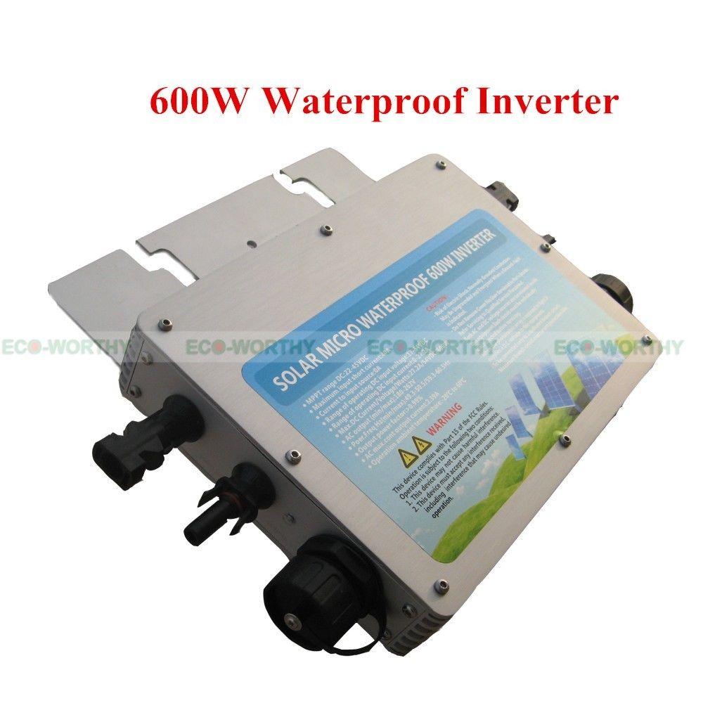 5PCS 600W 110V Waterproof Grid Tie Inverter Pure Sine Wave MPPT For Solar Panel(China (Mainland))