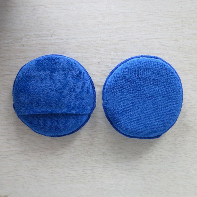 10Pcs Car Vehicle Soft Microfiber Wax Polishing Sponge Applicator Pads Blue Car styling(China (Mainland))