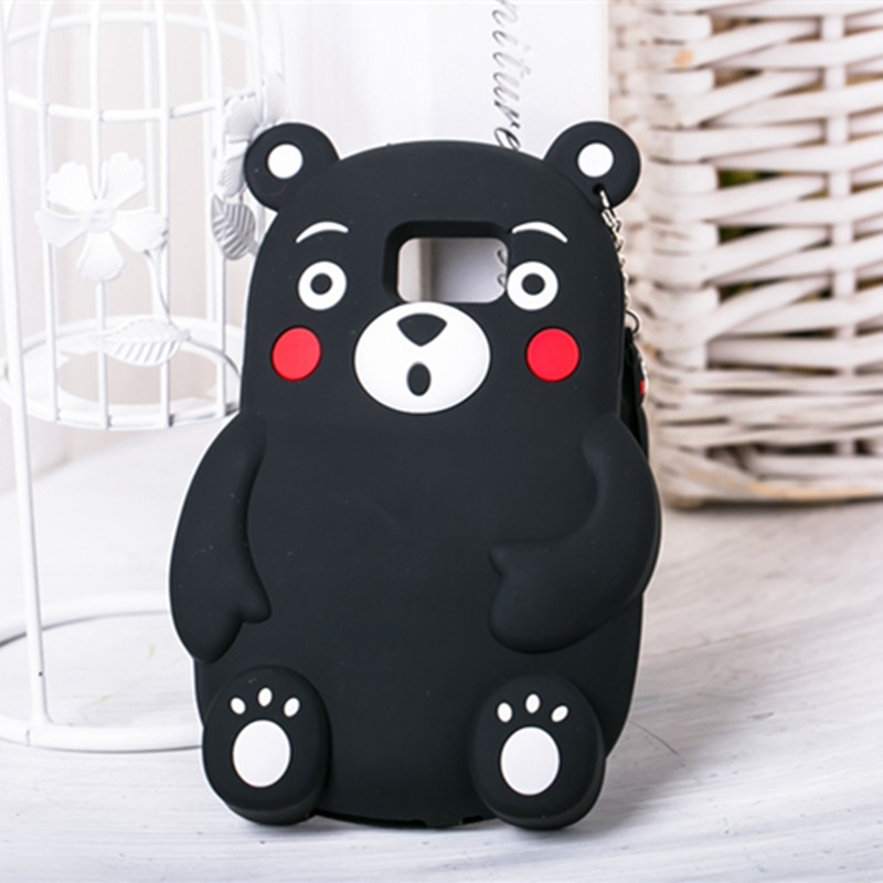 "Fashion Cartoon Kumamon Soft Silicone Case for Samsung Galaxy S6 G9200 5.1"" Lovely Bear Phone Cover Shockproof Rubber Shell(China (Mainland))"