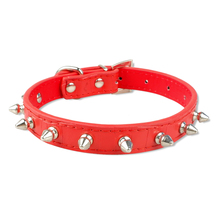 New Spiked Studded Pu Croc Leather Dog Cat Puppy Collars for S M Breeds