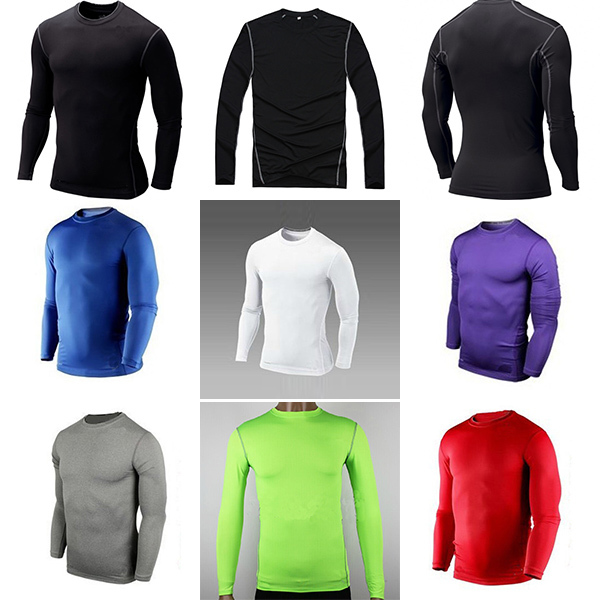 Men Boy Compression Base Layer Tight Top Shirt Under Skin Long Sleeve Sport Gear(China (Mainland))