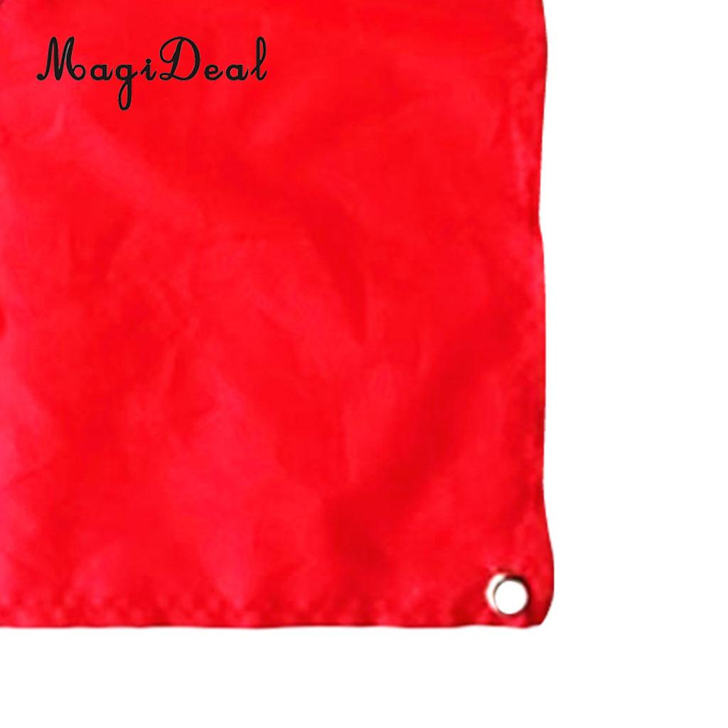 MagiDeal 2 Pieces Nylon Diver-Down Flag, Scuba Dive Flag Marker Banner Red and Blue 60x70cm