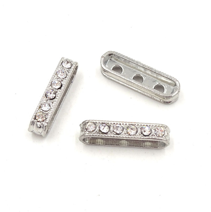 Jewelry Connector 20*4mm Rhinestone Connectors For Jewelry Making Accessories To Make Bracelets Conectores Para Pulseras 10Pcs(China (Mainland))