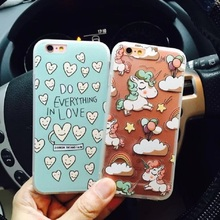2016 Fashion Summer Cool Cute Lovely heart Unicorn Case Fundas Cover For iPhone6 6s / 6 plus 6S plus Unicorn Coque Case