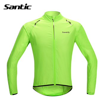 Santic Waterproof Cycling Jersey Rain Jacket Ropa Ciclismo/Windproof Windcoat Bicycle Clothing MTB Bike Jacket Cycle Raincoat