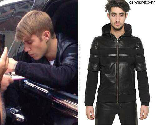 sm hjigy Justin Bieber outerwear patchwork leather hooded clothing - Jimmy Show Store store