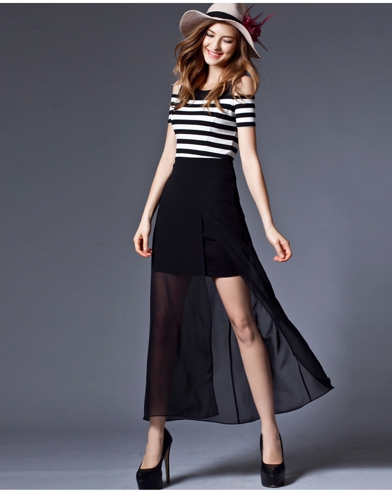 New 2015 Summer Style Women Dress Fashion Off Shoulder