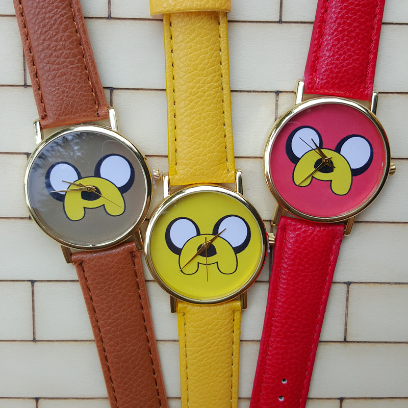 2016 Latest Version Cute Puppy Watches Fashion Casual Small Dog Pure Men And Women Leather Belt Watch-in Lover