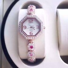 2014 caliente de lujo para mujer a estrenar del reloj con cristal de piedra reloj mujeres de SWIS Argent hora de acero inoxidable reloj de cuarzo con Logo