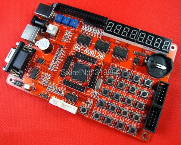 Free shipping 1x AVR ATMEGA128 development board ATMEL AVR128 Microcontroller board(China (Mainland))