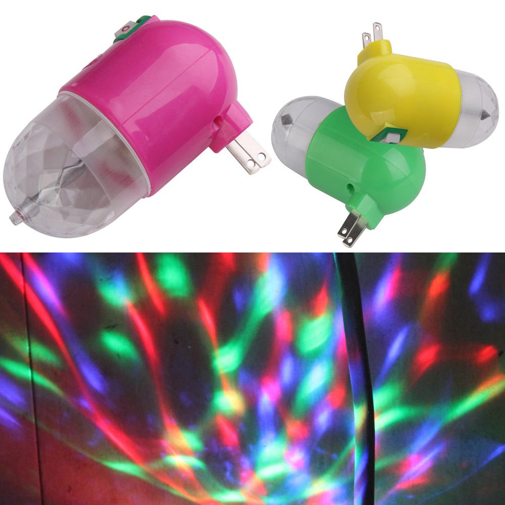 2014 High Quality 3W Pub Bar Party Disco Stage KTV LED RGB Rotating Night Light Lamp NG4S(China (Mainland))