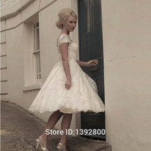 Knee Length Lace Short Wedding Dresses Garden Bridal Gown Princess Ball Gown Lace Bridesmaid Dresses(China (Mainland))