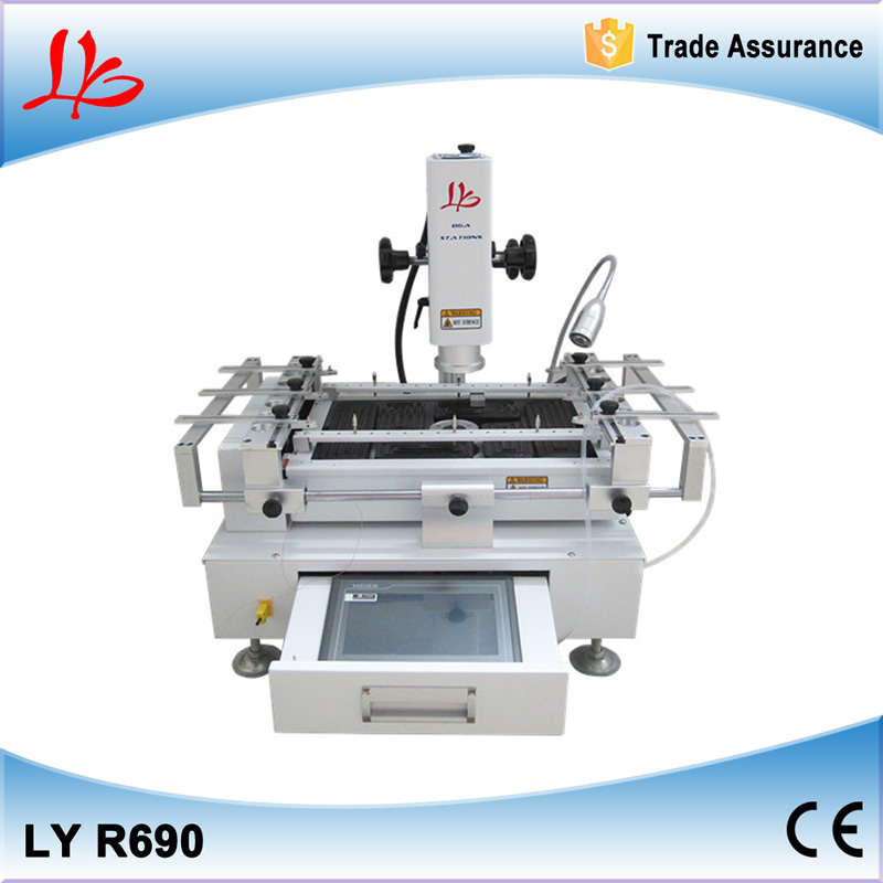 220V 3 Zones BGA Rework Station R690 repair machine with Touch Screen +CCD camera with 8'' monitor(China (Mainland))