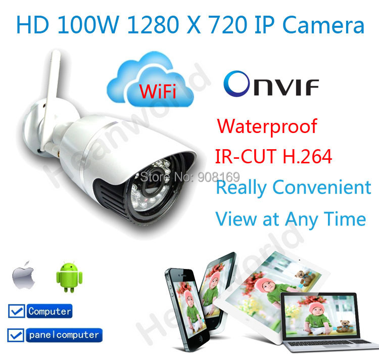 2014 hot Sale wireless waterproof Ip camera 720p wifi cctv security video capture surveillance HD onvif cctv Infrared IR camera(China (Mainland))