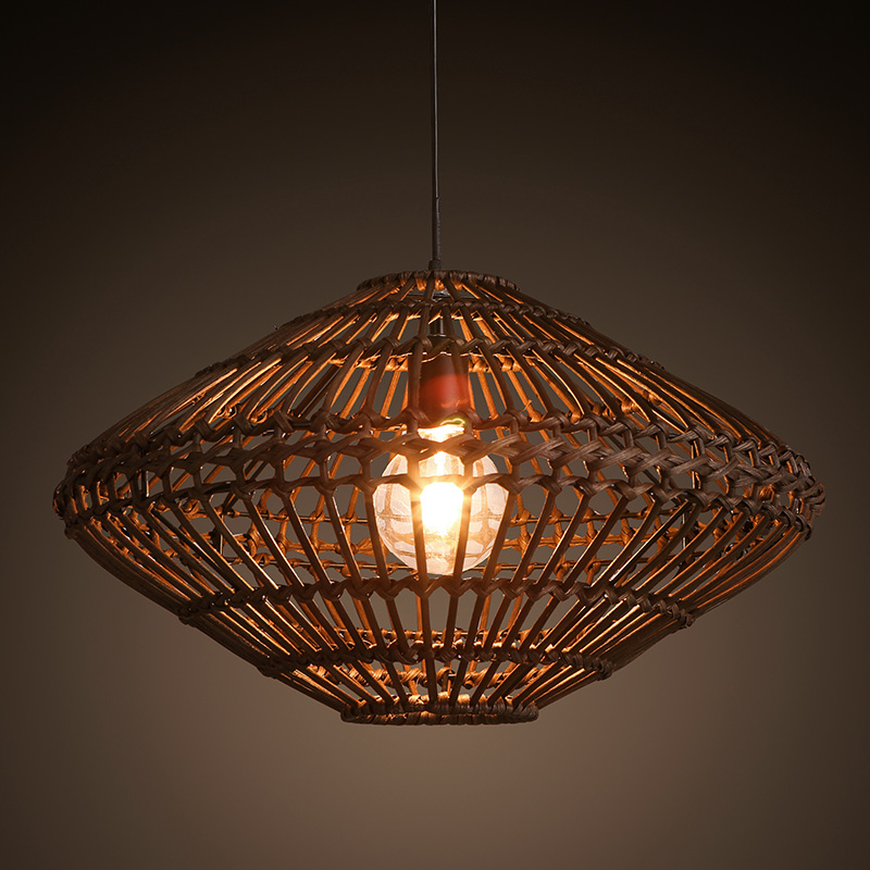 Southeast asia vintage country chinese style bamboo wicker for Home decorators lighting