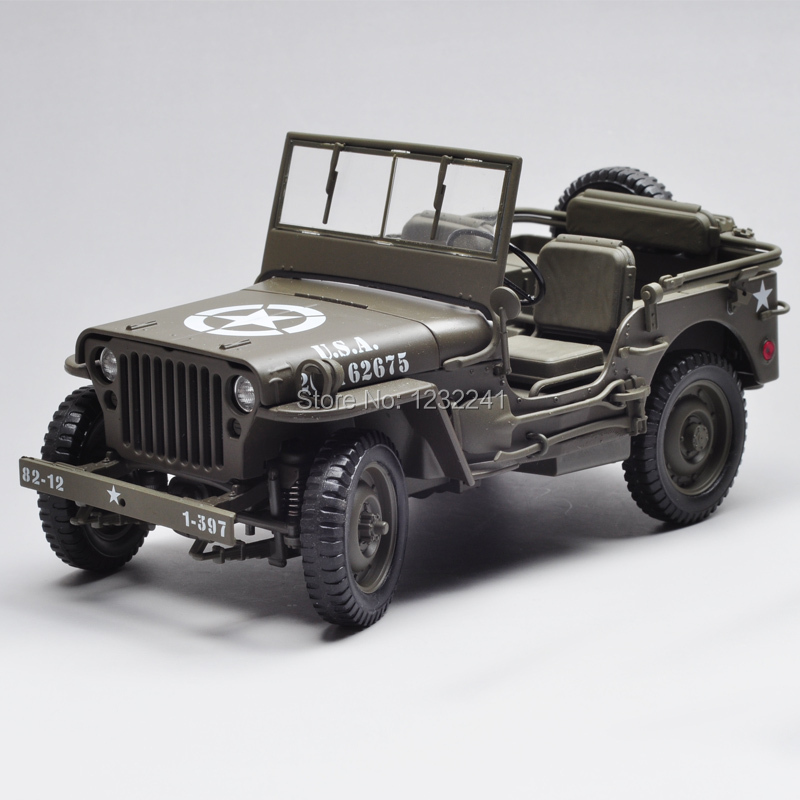 1:18 Scale High quality Willys Military Jeep JEEP Die Cast Alloy Model(Green) mode car Toys Gift for Children birthday present(China (Mainland))