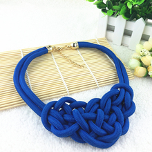 2015 New Hot Sale High Quality Cotton Fashion Necklace Return Value Shourouk Statement Necklace & Pendants For Women Dress Gift(China (Mainland))