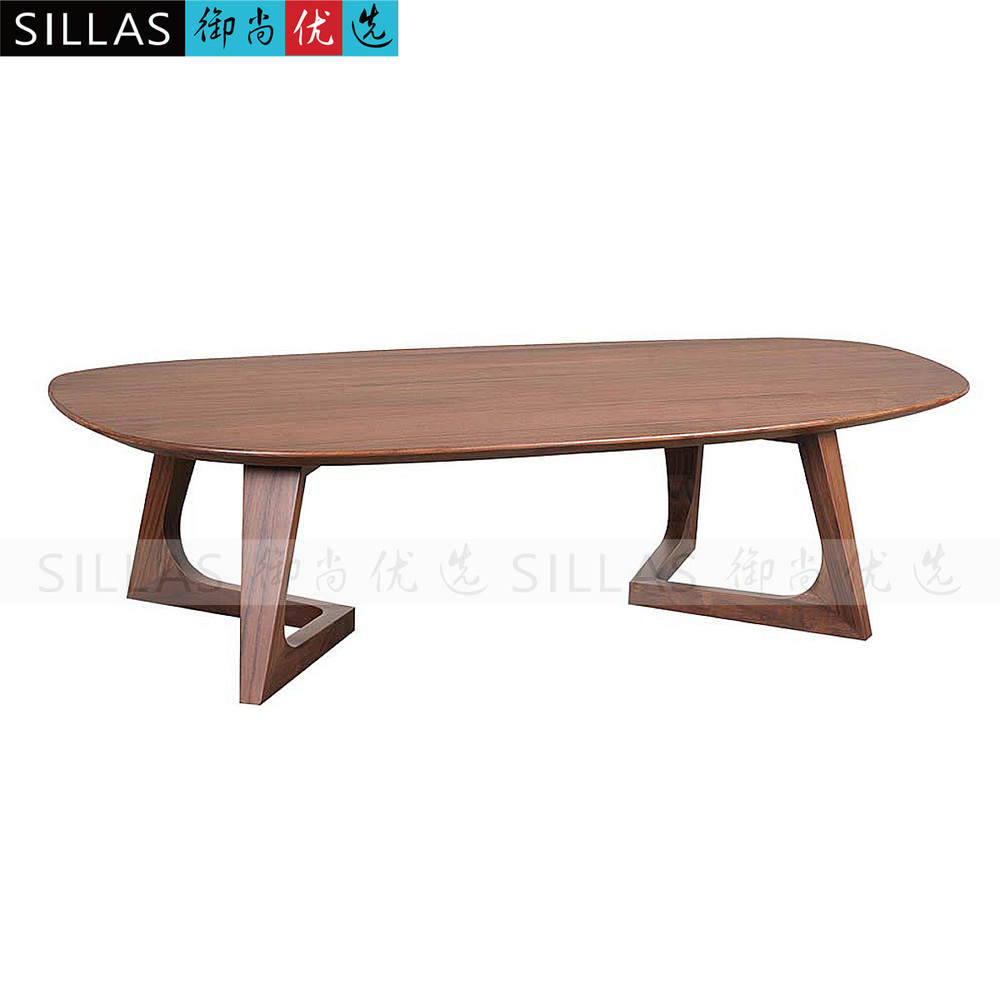 Walnut wood furniture, coffee table edge matching side table tea table a few simple minimalist contemporary American designer li(China (Mainland))