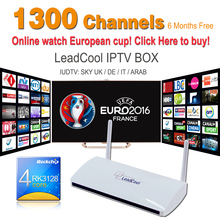 Sky UK DE IT Deutsch Indian Sport Max TV Box Leadcool Android 4.4 512M/8G With Six Months Free Iptv Account 1300 Europe Channels
