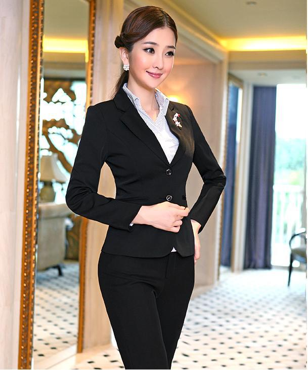 Buy New 2016 Fashion Women Suits Blazer And Pants Sets For Ladies Professional
