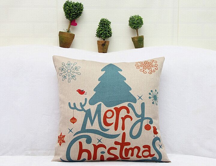 Indoor Christmas Decoration Ornaments Santa Claus Snowman Deer Home Seat Back Cushion And Pillow Christmas Decoration