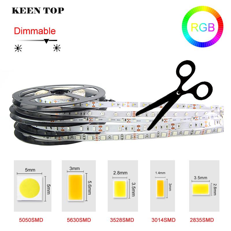 SMD3528/5050/5630/3014/2835 5M 300Led non/ip65 waterproof RGB Led Strip Light fita led flexible string Ribbon lamp Ribbon tape()