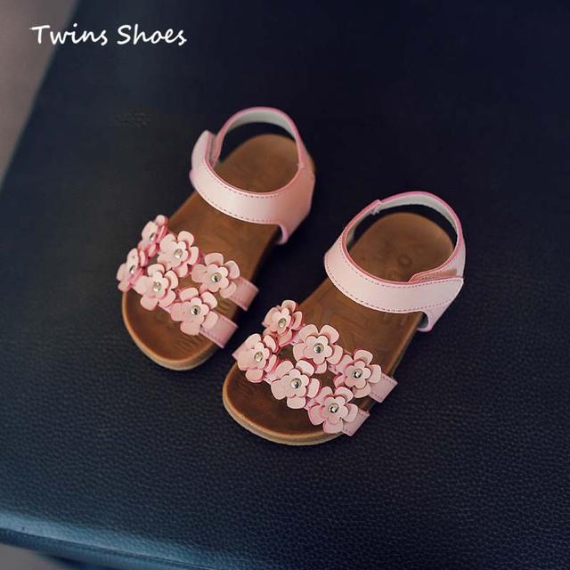 2016 летом малыша сандалии дети цветов сандалии для девочек ребенок пляжные сандалии ...