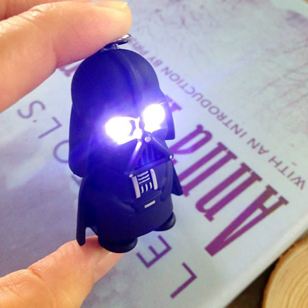 New star wars Darth Vader Key rings with sound Keychain action toy figures Darth Vader LED Flashlight gift for child kids toys(China (Mainland))