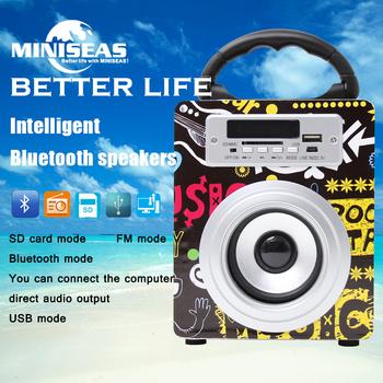 Miniseas красочный портативный Bluetooth динамик с Fm радио поддержка TF / SD карта или USB для Iphone Samsung бесплатная доставка