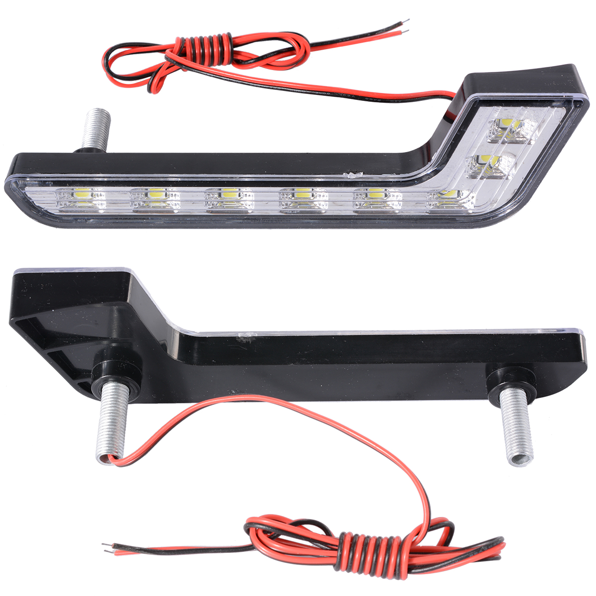 2x 6000k Car Daytime Running DRL Bright Driving Day Light Head Lamp 8 LED white
