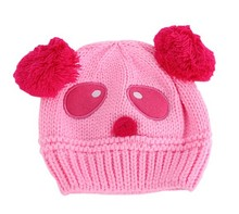 Warm Toddlers Baby Kids Beanie Cap Cartoon Panda Ball Knited Crochet  Winter Hat(China (Mainland))