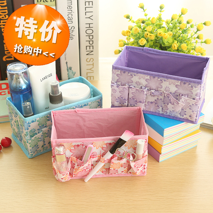 Free shipping 5 pcs/lot A14-1-02 special makeup storage boxes cosmetic boxes jewelry boxes of private small storage bag(China (Mainland))