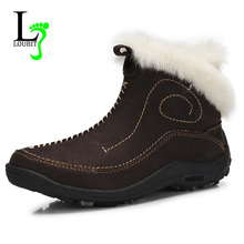 Women Winter Boots Fashion Snow 2016 Casual Shoes Outdoor Fur Breathable Plus Size 35-42 - Loubit Co.,Ltd Store store