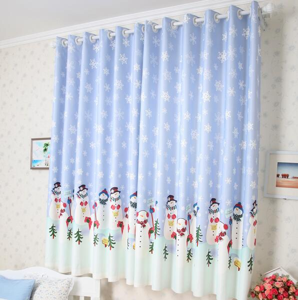 Buy snow man curtains christmas curtain for M s living room curtains