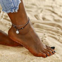 ホット夏ビーチシェルヒトデ女性新デザイン声明ボヘミアンフットジュエリー脚自由奔放に生きるインドアンクレッ(China)