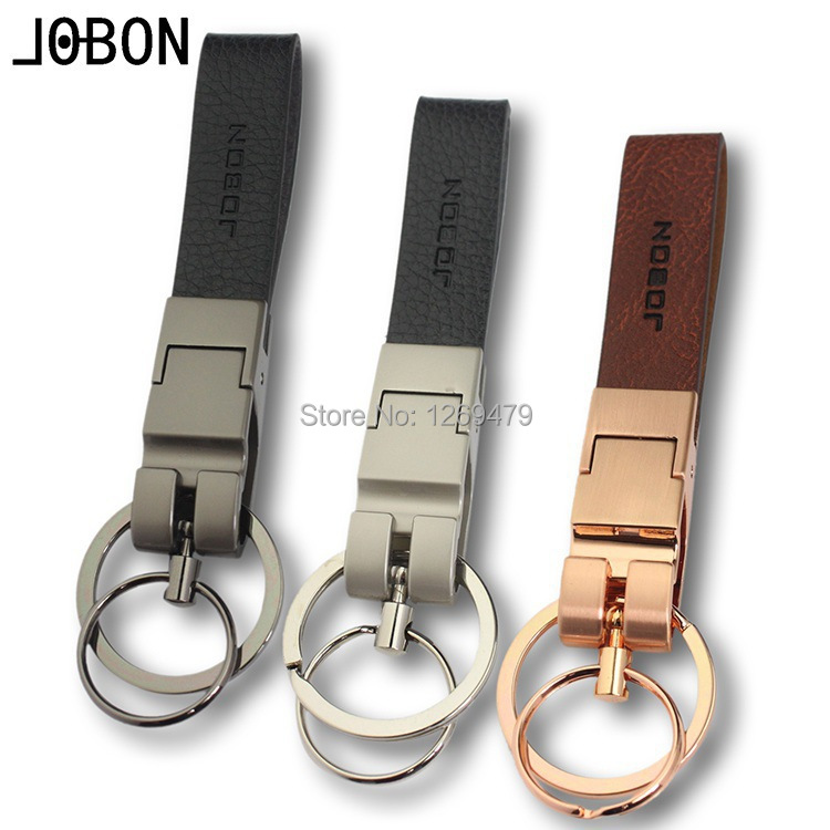 Free Shipping Hot sale Men and wome JOBON Automobile Key chain Key rings Keychain Keyring Car Pendant cowhide 031(China (Mainland))