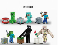 free shipping hot sales minecraft cartoon figure toys with accessories 6 kind styles the best toys for kid(China (Mainland))