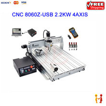 high speed cnc wood carving router machine 8060Z-USB 4axis 2.2KW cnc Machinery with mach3 controller(China (Mainland))
